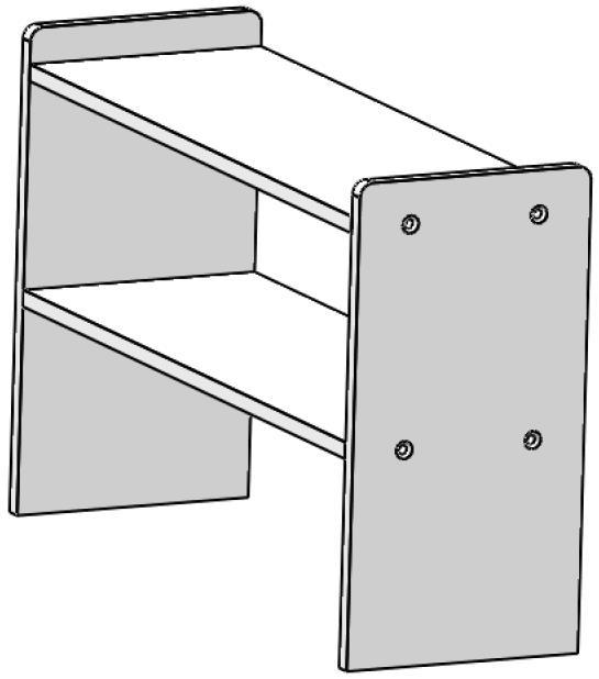 FP etagere PVC 350x540x180