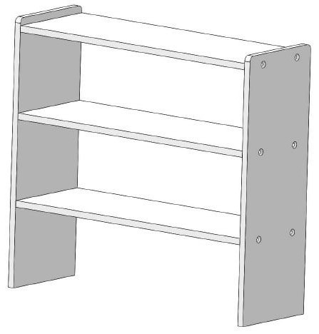 FP etagere PVC 500x540x180