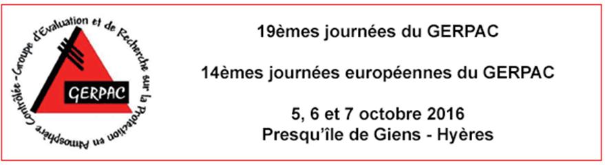 gerpac 2016 sieve france